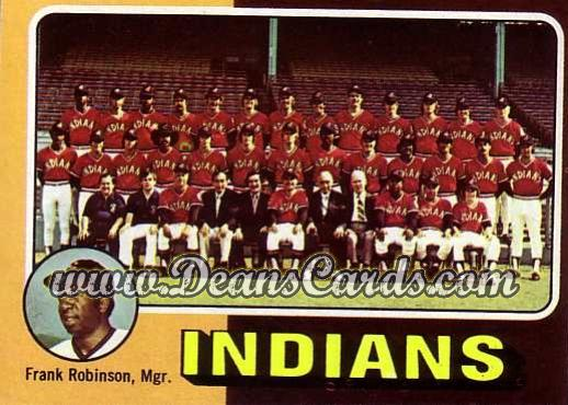 1975 Topps Mini #331   -  Frank Robinson Indians Team Checklist