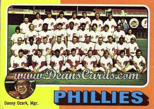 1975 O-Pee-Chee #46   -  Danny Ozark Phillies Team Checklist