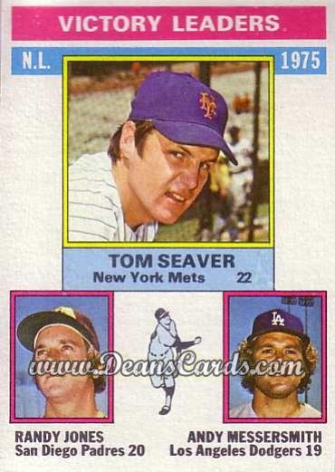 1976 Topps #199   -  Tom Seaver / Randy Jones / Andy Messersmith NL Victory Leaders