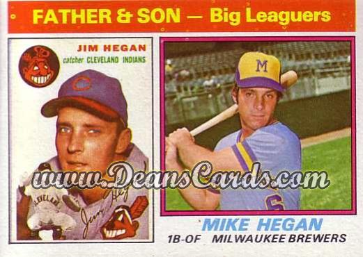 1976 Topps #69  Jim Hegan / Mike Hegan