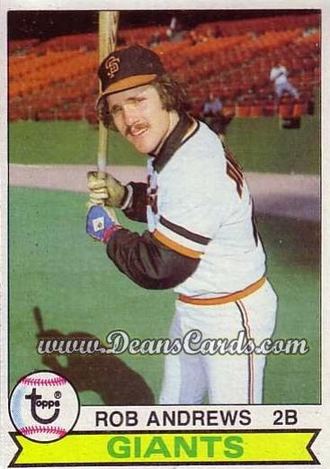 1979 Topps #34  Rob Andrews