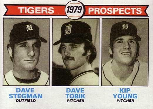 1979 Topps #706   -  Dave Stegman / Dave Tobik / Kip Young Tigers Prospects