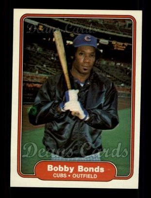 1982 Fleer #588  Bobby Bonds