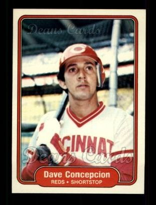 1982 Fleer #63  Dave Concepcion
