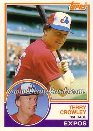 1983 Topps Traded #22 T Terry Crowley