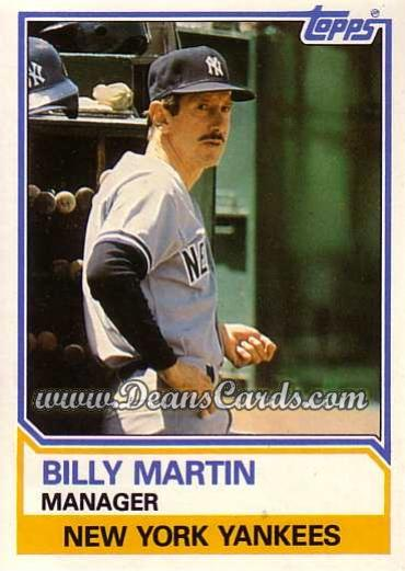 1983 Topps Traded #66 T Billy Martin
