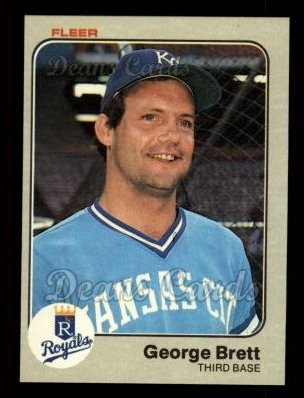 1983 Fleer #108  George Brett
