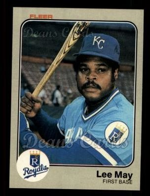 1983 Fleer #118  Lee May