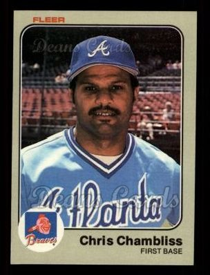 1983 Fleer #134  Chris Chambliss