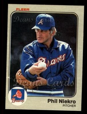 1983 Fleer #143  Phil Niekro