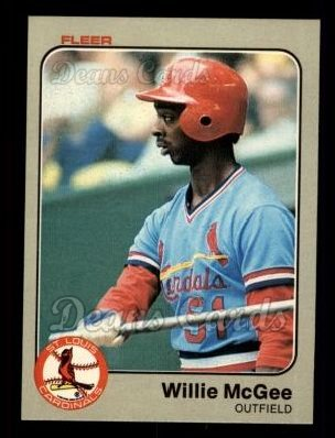 1983 Fleer #15  Willie McGee