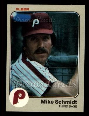1983 Fleer #173  Mike Schmidt