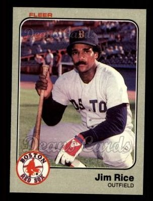 1983 Fleer #194  Jim Rice