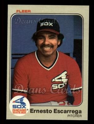 1983 Fleer #234  Ernesto Escarrega