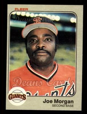 1983 Fleer #270  Joe Morgan