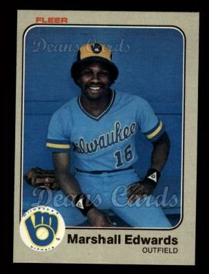 1983 Fleer #32  Marshall Edwards
