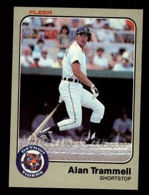 1983 Fleer #344  Alan Trammell