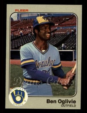 1983 Fleer #43  Ben Oglivie