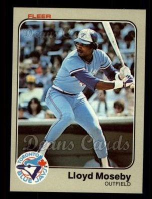 1983 Fleer #435  Lloyd Moseby