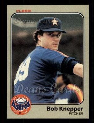 1983 Fleer #451  Bob Knepper
