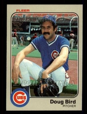 1983 Fleer #490  Doug Bird