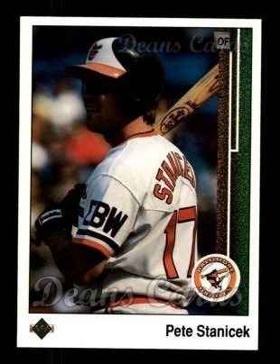1989 Upper Deck #592  Pete Stanicek