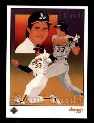 1989 Upper Deck #670   -  Jose Canseco Oakland Athletics Team