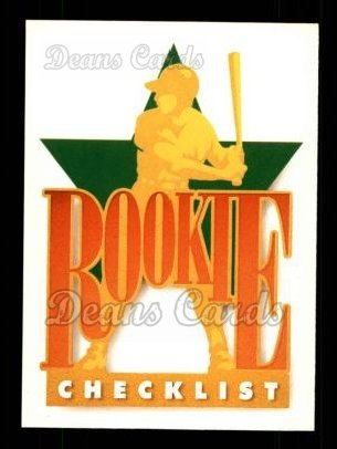 1990 Upper Deck #1   Star Rookie Checklist