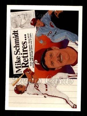 1990 Upper Deck #20   -  Mike Schmidt Mike Schmidt Special