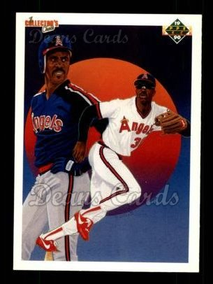 1990 Upper Deck #5   -  Devon White Los Angeles Angels Team