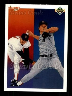 1990 Upper Deck #57   -  Roger Clemens Boston Red Sox Team