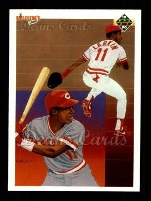 1990 Upper Deck #99   -  Barry Larkin Cincinnati Reds Team