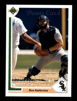1991 Upper Deck #209  Ron Karkovice