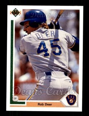 1991 Upper Deck #272  Rob Deer