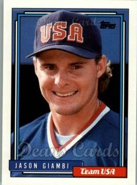 1992 Topps Traded #40 T  -  Jason Giambi Team USA