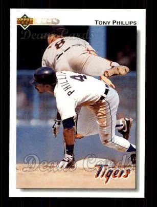1992 Upper Deck #184  Tony Phillips