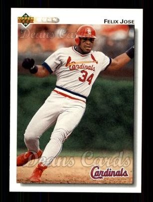 1992 Upper Deck #264  Felix Jose