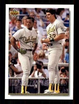 1992 Upper Deck #640  Jose Canseco / Rickey Henderson