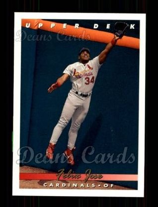 1993 Upper Deck #156  Felix Jose