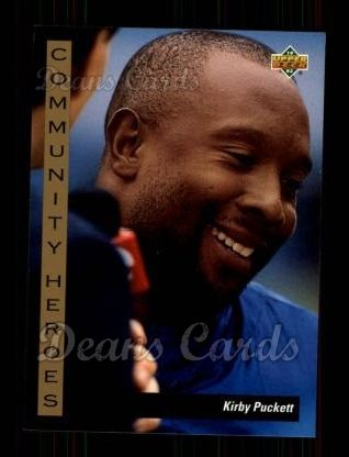 1993 Upper Deck #34   -  Kirby Puckett Community Heroes
