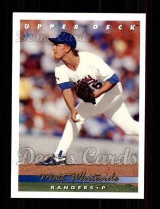 1993 Upper Deck #390  Matt Whiteside