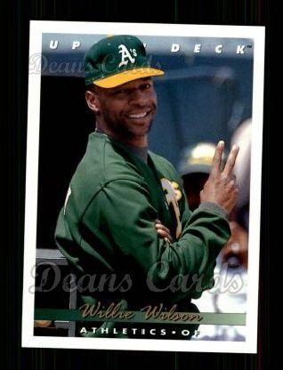 1993 Upper Deck #417  Willie Wilson