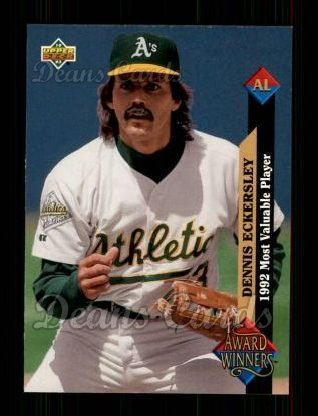 1993 Upper Deck #487   -  Dennis Eckersley Award Winners