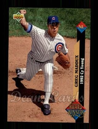 1993 Upper Deck #488   -  Greg Maddux Award Winners