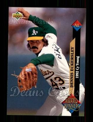 1993 Upper Deck #489   -  Dennis Eckersley Award Winners