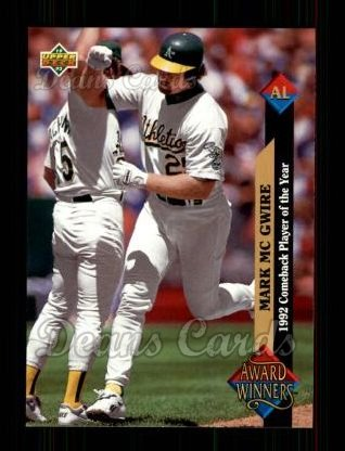 1993 Upper Deck #493   -  Mark McGwire Award Winners