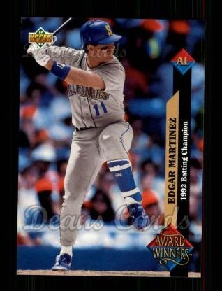 1993 Upper Deck #495   -  Edgar Martinez Award Winners