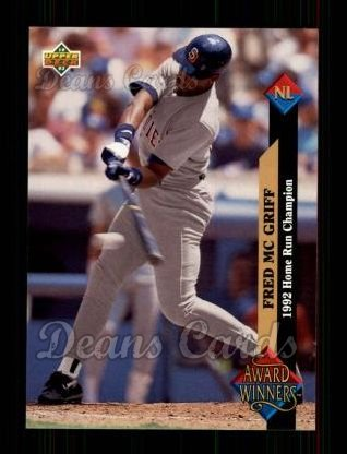 1993 Upper Deck #496   -  Fred McGriff Award Winners