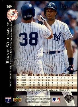 1995 Upper Deck #209  Bernie Williams