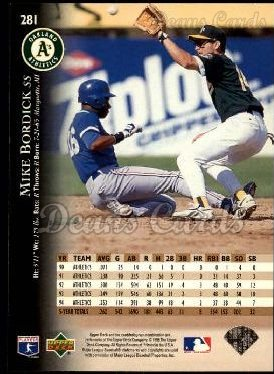 1995 Upper Deck #281  Mike Bordick